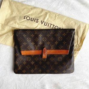 Auth Louis Vuitton Pliante Clutch